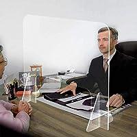 5PCS個人保護大型カウンタートップ/デスク/レセプションくしゃみ咳スクリーンガード/パーティション (サイズ : 40*50cm)