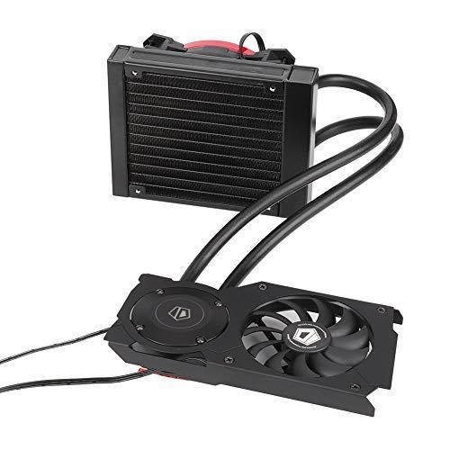 ASHATA Koeling Frostflow, 120 VGA-grafische kaart, waterkoeler, 120 mm, vloeistof, CPU-koelventilator, SATA CPU-ventilator, radiator voor computer