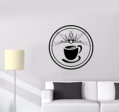 yaonuli Kaffeetasse Muster wandaufkleber küche wandtattoo abnehmbare kunstwand Cafe Lounge Zimmer Wand decoration75x75cm