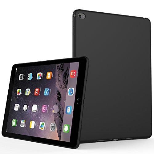 iPad Air 2 Case (2014 Release), SENON Slim Design Matte TPU Rubber Soft Skin Silicone Protective Case Cover for Apple iPad Air 2, Black
