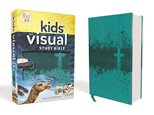 NIV Kids' Visual Study Bible, Leathersoft, Teal, Full Color Interior: Explore the Story of the Bible---People, Places, and History