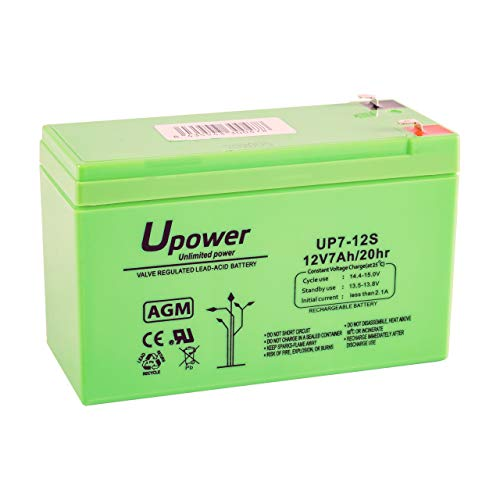 Master U-Power UP - Batería Plomo AGM 7Ah 12V ⭐