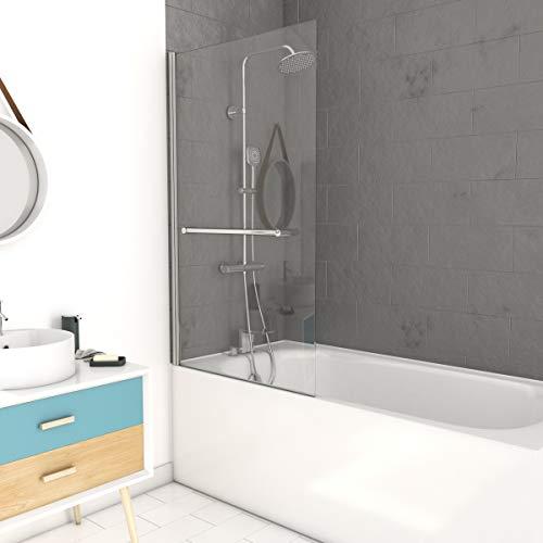 MARWELL Central Mampara para bañera, Cromado