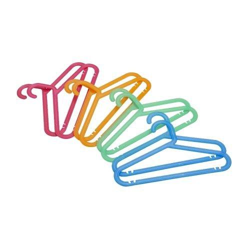 Ikea Bagis - Grucce multiuso per appendere pantaloni, gonne, camicia, in plastica flessibile, per minimizzare il rischio di rottura, must have home Essential, confezione da 16