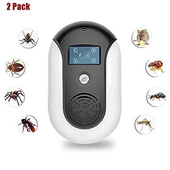 ZHANGLE Antiparasitaire, avec Bouton Tactile Répulsif électronique Insecte 360 ° Couverture des Ondes sonores sans Produits Chimiques, pour la Maison intérieure, la Cuisine, l'entrepôt