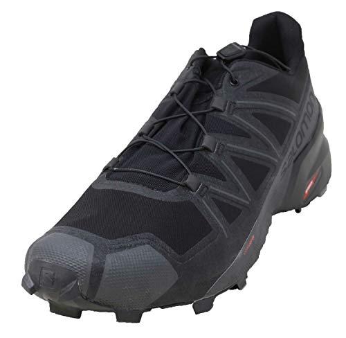 Salomon Men's Speedcross 5 Wide Trail Running, Black/Black/Phantom, 11