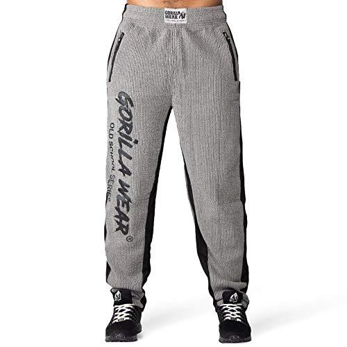 GORILLA WEAR - Bodybuilding Herren Hose Lang - Augustine - Old School Pants - Männer Sporthose Grau L/XL