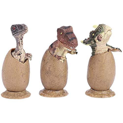 YCX 3 Stücke Dinosaurier Eier Figuren Basis Dinosaurier Eier Half Hatched Spielzeug Lebensechte Tier Modell Sammlung, Baby Spielzeug Geschenk,1