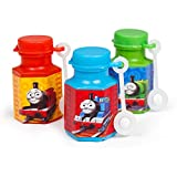 amscan Cute Thomas The Tank Mini Bubble Birthday Party Favour Toy and Prize Giveaway, 0.6 oz., Pack of 12.