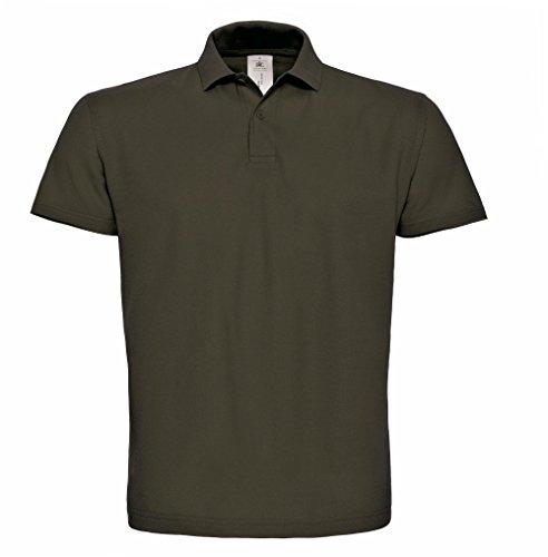 B&C: Piqué Polo Shirt ID.001 PUI10, Größe:2XL;Farbe:Brown