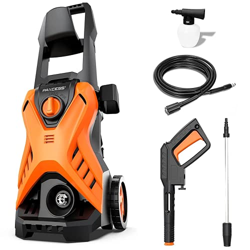 [ New Model ] Powerful Pressure Washer, Paxcess 120Bar 1500W 420L/H...