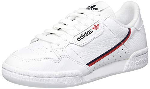 adidas Continental 80, Scarpe da Ginnastica Uomo, Bianco (Ftwbla/Escarl/Maruni 000), 42 EU