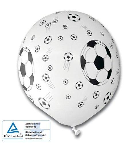 tib 16768 Voetbal Ballonnen Wit met Zwarte Print Set van 5 Stukken, Multi kleuren, One Size