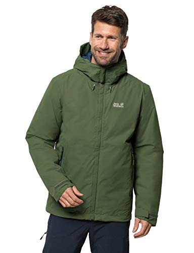 Jack Wolfskin Herren Argon Storm Jacket M Wetterschutzjacke, moss, M