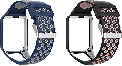 Chainfo Cinturino per Orologio compatibile con TomTom Spark/Spark 3 / Runner 2 / Runner 3 / Golfer 2 / Adventurer, Cinturino in Silicone Morbido per Orologi (Pattern 1+Pattern 8)