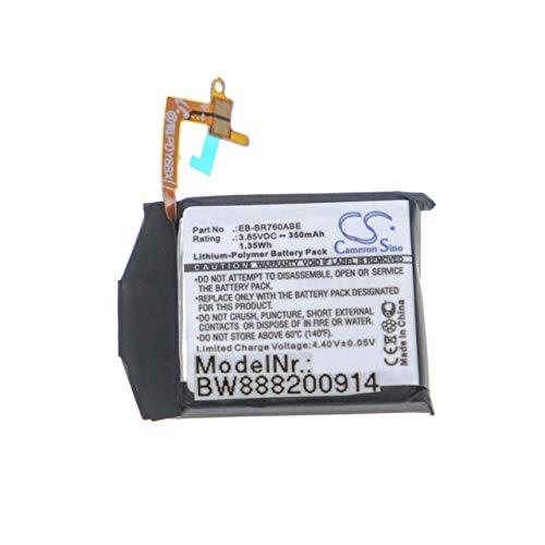 vhbw batería Compatible con Samsung Gear S3 Classic, S3 Frontier, SM-R760, SM-R770 smartwatch Reloj de Actividad (350mAh, 3.85V, polímero de Litio)