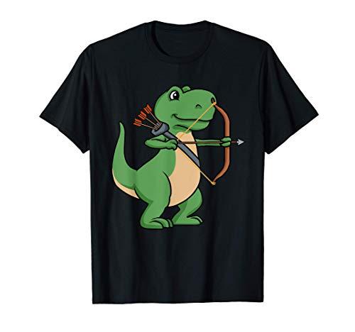 Dinosauro Tiro con l'Arco Camicia Bambini Fiocco Tshirt Tiro Maglietta