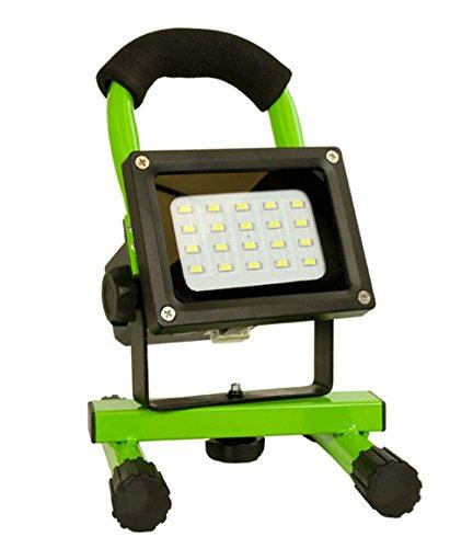 Arcas 30700028A 8 Watt LED Akku Strahler, inklusive AC Adapter und KFZ Adapter