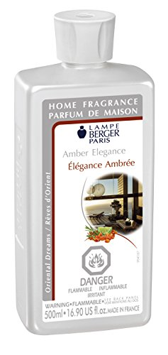 Amber Elegance - Lampe Berger Fragrance Refill for Home Fragrance Oil Diffuser - 16.9 Fluid Ounces - 500 milliliters