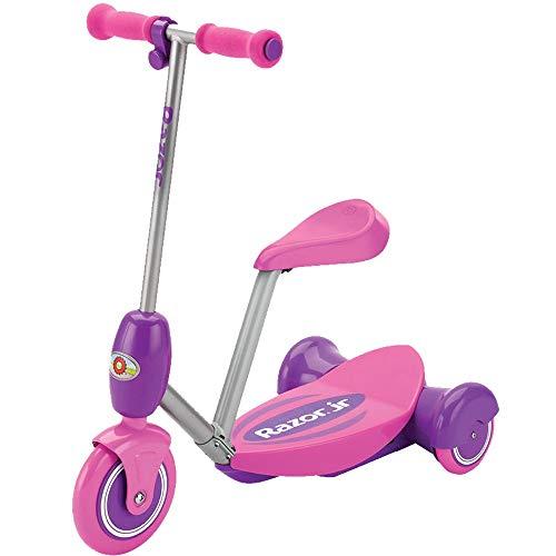 Razor Lil' E Seated Escúter eléctrico, Niñas, Rosa, S
