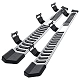 Side Step Nerf Bar Running Board Replacement for Ford F-150 Crew Cab 04-14(4 Full Size Door),6 Inch Step Pad Design,OE Style