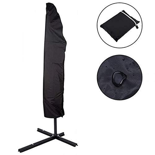 Waterdichte Oxford 9ft Patio Paraplu Cover, Zwart Outdoor Openlucht Paraplu Cover Schaduw Romeinse Paraplu Doek Zwart Stofdichte Cover (Maat: 200 * 30 * 50cm/6.56 * 0.98 * 1.64ft)