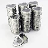 Heart Metal Tins with Window Lids by Celebrate It, 30 Count