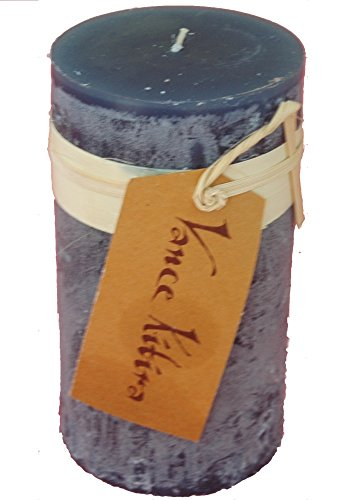 Vance Kitira English Blue Timber Collection Pillar Candle (3.25' by 6')