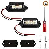 Chudian 2 Pezzi LED Luci Targa per Auto Luce di Cortesia per Porta Targa a LED Luce univer...