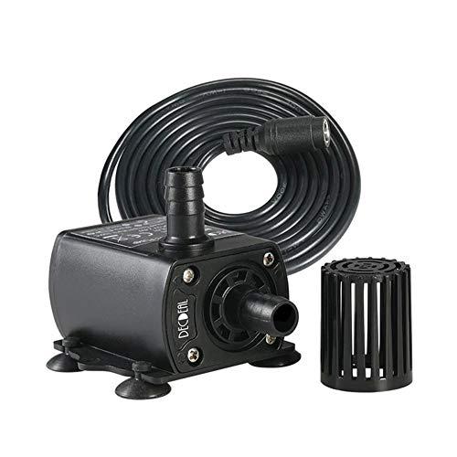 Danigrefinb Wasserpumpe, DC 12 V, 400 l/h, Ultra-leise, Mini Brushless Solar Motor Kaltwasser Umwälzpumpe, Kunststoff