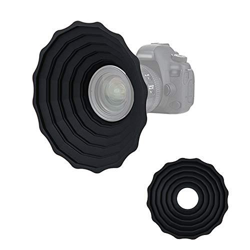 Ultimate - Parasol universal de silicona antirreflectante para lente de cámara, accesorios de fotografía (para lentes de rosca de filtro de 53 a 72 mm)