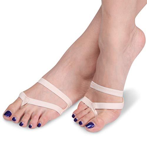 FENICAL Zapatillas de Baile Ballet Danza Baile Calcetines Antideslizantes para Yoga Suelo para competición de Gimnasia rítmica(L)