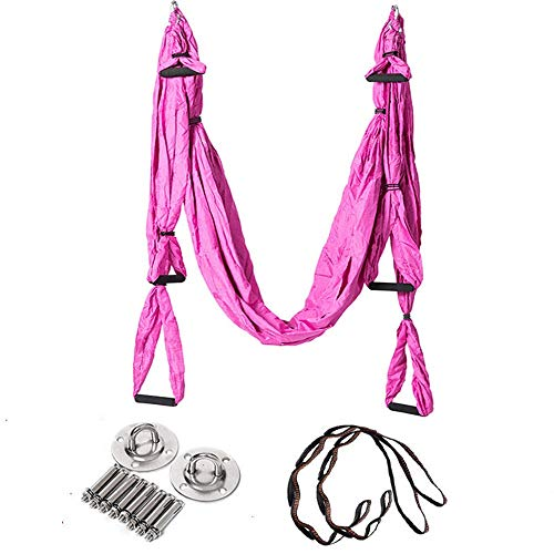 Why Choose WUSHIYU Yoga Hammock Aerial Yoga Hammock Gravity Fitness Hammock with Extension Belt and ...