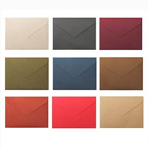 WOPODI 18 Pieces Retro Triangle Envelope, Color Invitation Envelopes Classic Simple Style Flap Envelope for Business Wedding Festival Birthday Party Holiday Invitations Cards Supplies, 6.384.48 Inch