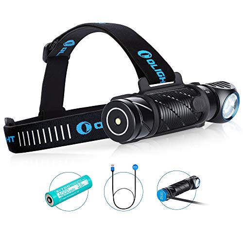 Olight PERUN 2 LED Linterna Frontal Multifuncional Lámpara de Cabeza USB Recargable...