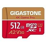 Gigastone Tarjeta Micro SD 512GB, 4K Game Pro para Nintendo-Switch, GoPro, Cámara de Acción, dji, UHD Video, 100/80MB/s Lec/Esc, UHS -I U3 A2 V30 C10