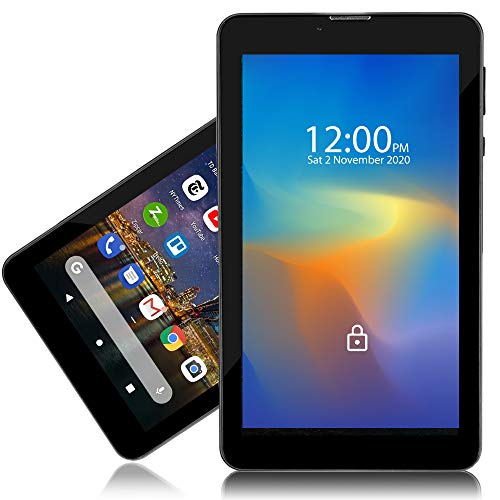 Indigi Unlocked 4G LTE 7-inch Android 9 Pie Tablet & Phone (QuadCore 1.3GHz + 2GB RAM/16GB Storage + Dual SIM Slots)