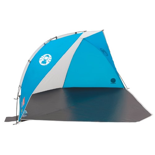 Photo of Coleman Sundome Beach Shelter with UV Guard – Blue/White