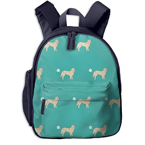 AOOEDM School Backpack,Cute Golden Retriever Fart Dog Cartoon Backpacks Book Bag