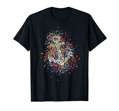 Anker Bunte Farbspritzer Farbkleckse Farbe Spritzer T-shirt T-Shirt