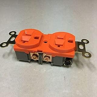 FidgetFidget 25A 125V US AC Power Receptacle Wall Red Copper Socket Outlet