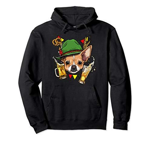Chihuahua Oktoberfest Dog Lederhosen Gift German Beer Fest Pullover Hoodie