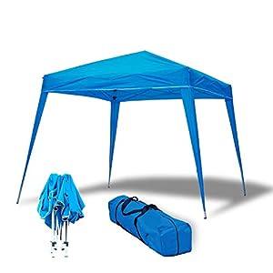 wasabi Carpa Plegable 3x3m Compact Azul de jardín, terraza, Camping, Playa