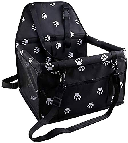 BENPAO Dog Car Seat Upgrade Deluxe Tragbarer Pet Dog Booster-Autositz mit aufsteckbarer Sicherheitsleine und Aufbewahrungstasche Geeignet, perfekt für kleine Haustiere