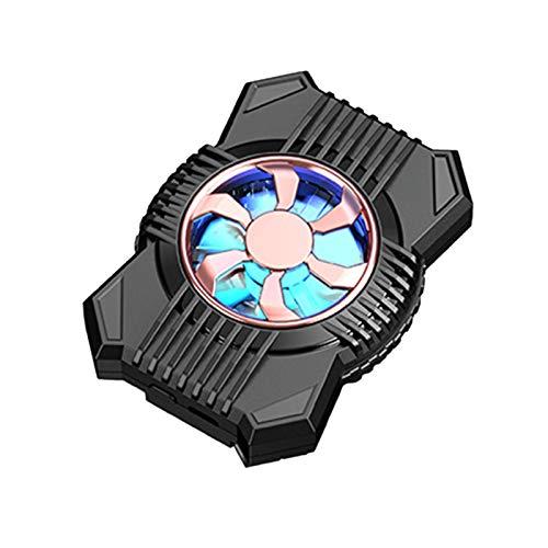 FreshWater Ventilador de enfriamiento del radiador del teléfono celular con dos engranajes y la luz Mini enfriador portátil del juego del teléfono celular Radiador de la batería del clip posterior