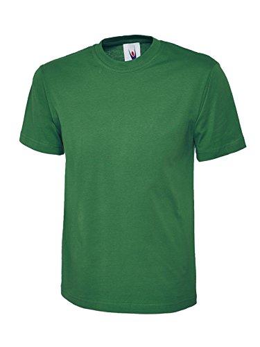 Plain Classic Top Camiseta de Manga Corta 100% algodón Casual Ocio Deportes Trabajo UC301