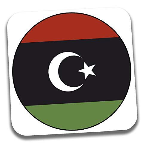 Getränke-Untersetzer mit Libyen-Flagge – Geschenk – Geburtstag – Weihnachten – Strumpffüller – Secret Santa