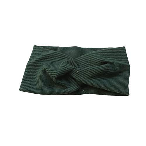 Cosanter Bandeau en tissu absorbant la sueur de couleur unie Bande de cheveux bandeaux Bandeau serre-tête Hair Band Pour Maquille Salle de Bain Faire du sport Vert