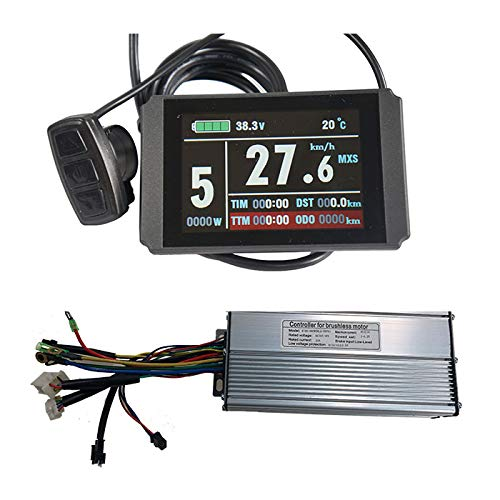 NBpower 48V 40A 1500W 2000W Brushless Sine Wave KT Controller with KT LCD8H Color Dsiplay,E-Bike Hub Motor Controller for Electric Bicycle Kit.
