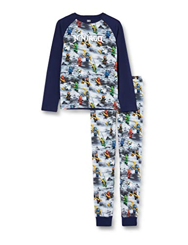 LEGO Jungen MW-Schlafanzug Ninjago Pyjamaset, 590 Dark Navy, 116